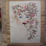 Dorothy's Pillow using Fantasy Floral WomenView the Design