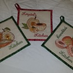 Christine's Pot Holders using Retro FruitView the Collection