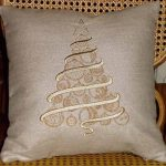 Christine's Pillow using Oh Christmas TreeView the Collection