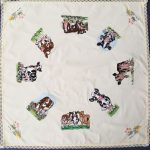 Corrine's table cloth using Cow PatchView the Collection Here