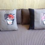 Christine's pillows using Fancy LadiesView The Collection Here