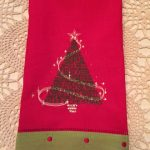Carol's towel using Fantasy Christmas TreesView The Collection Here