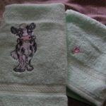 Johanna's hand towel using Cow PatchView the Design