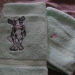 Johanna's hand towel using Cow PatchView the Design