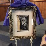 """Trudy's framed portrait using """"His Cross To Bear""""br />View the Collection"""