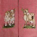 """Pat's towels using """"Cow Patch"""