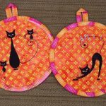 Christine's pot holders using CattiesView the Collection