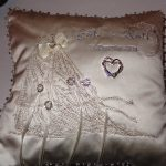 Brenda's wedding pillow using Love And MarriageView the Collection