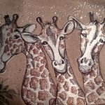 Karen's stitch out using Family Of GiraffesView The Collection Here