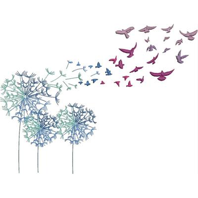 Dandelion WishBlowing Dandelion Birds